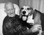 Jim Thomson and dog