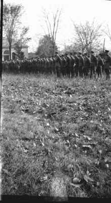 164th Battalion lined up in Victoria Park