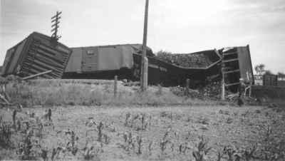 Train wreck near Milton