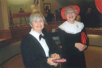 New Years Levee, 2007. Helen Comber and Gayle Waldie