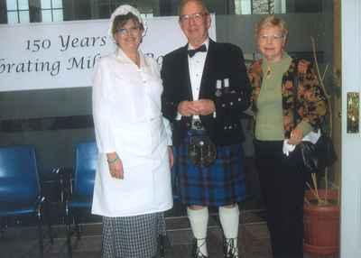 New Years Levee, 2007. Mirella Marshall, Walt Elliot, Anne Elliot.