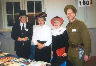 New Years Levee, 2007.  Ken Lamb, Gloria Brown, Gayle Waldie and Bruce Carlin.