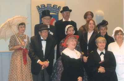 New Years Levee, 2007.  Group of Milton Historical Society enactors