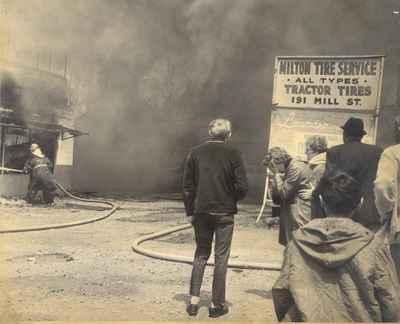 Fire at Milton Tire Service