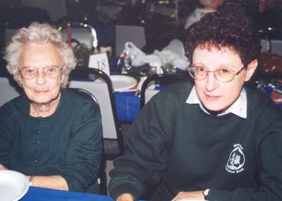 Edna and Marsha Waldie at the Horticultural Society dinner
