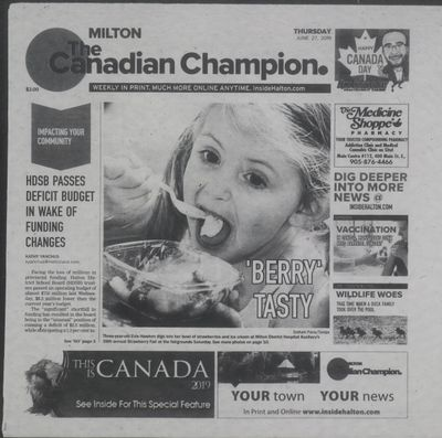 Canadian Champion (Milton, ON), 27 Jun 2019
