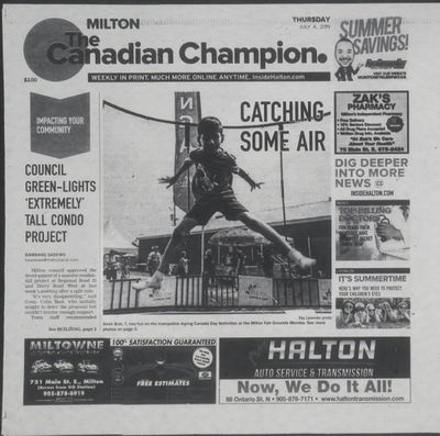 Canadian Champion (Milton, ON), 4 Jul 2019