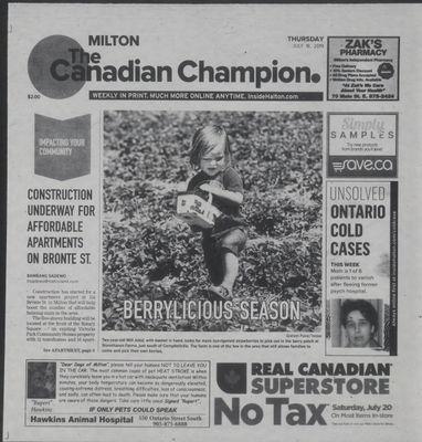 Canadian Champion (Milton, ON), 18 Jul 2019