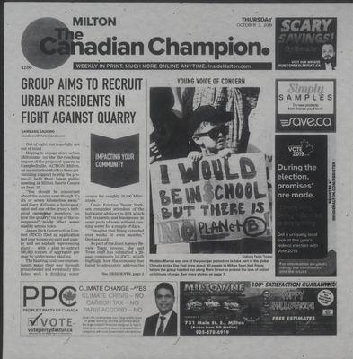 Canadian Champion (Milton, ON), 3 Oct 2019
