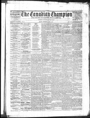 Canadian Champion (Milton, ON), 2 Apr 1862