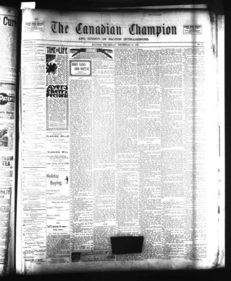 Canadian Champion (Milton, ON), 28 Dec 1899