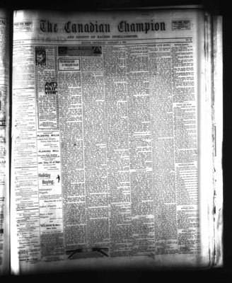 Canadian Champion (Milton, ON), 4 Jan 1900