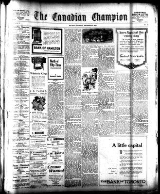 Canadian Champion (Milton, ON), 4 Dec 1919