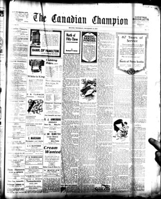 Canadian Champion (Milton, ON), 18 Dec 1919