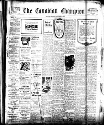Canadian Champion (Milton, ON), 25 Dec 1919