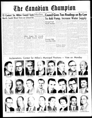 Canadian Champion (Milton, ON), 28 Nov 1957