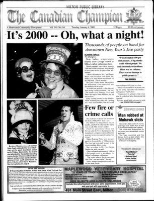 Canadian Champion (Milton, ON), 4 Jan 2000