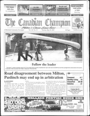 Canadian Champion (Milton, ON), 20 May 2003
