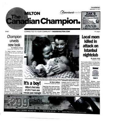 Canadian Champion (Milton, ON), 5 Jan 2017