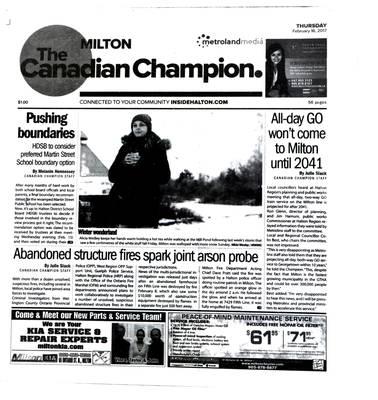 Canadian Champion (Milton, ON), 16 Feb 2017