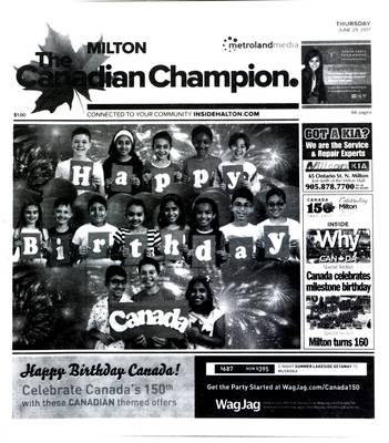 Canadian Champion (Milton, ON), 29 Jun 2017