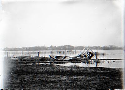 Spring Freshet. Boats