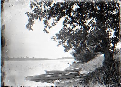 2 boats on shore