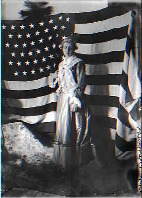 Lady w/ Flag