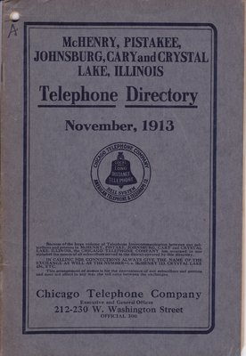 1913 November - McHenry Telephone Directory