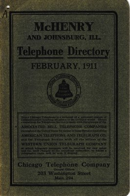 1911 February - McHenry Telephone Directory