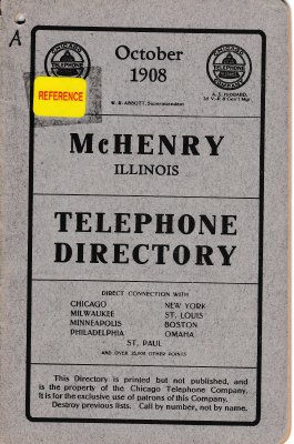 1908 October - McHenry Telephone Directory