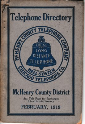 1919 February - McHenry Telephone Directory