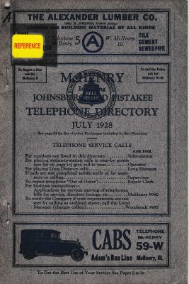 1928 July - McHenry Telephone Directory