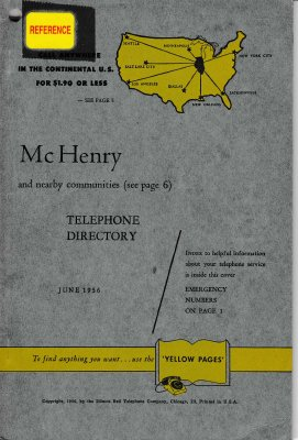 1956 June - McHenry Telephone Directory