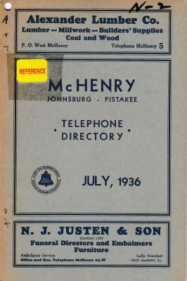 1936 July - McHenry Telephone Directory
