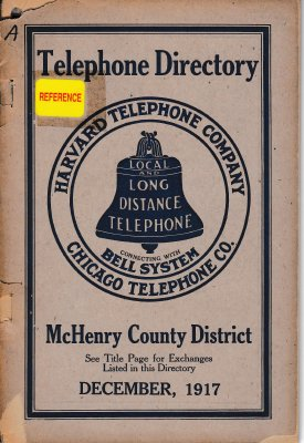 1917 December - McHenry Telephone Directory