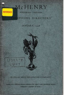 1948 January - McHenry Telephone Directory