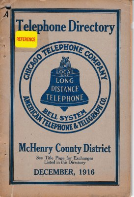 1916 December - McHenry Telephone Directory