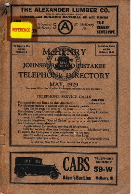 1929 May - McHenry Telephone Directory