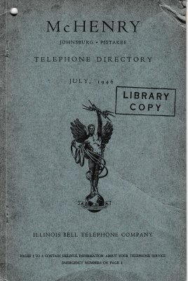 1946 July - McHenry Telephone Directory