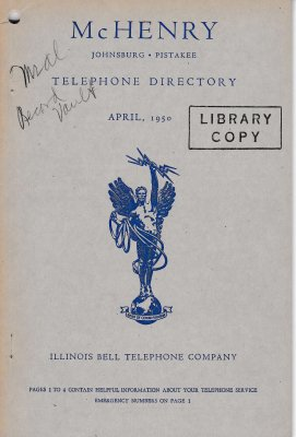 1950 April - McHenry Telephone Directory