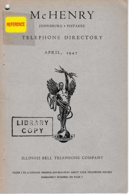 1947 April - McHenry Telephone Directory