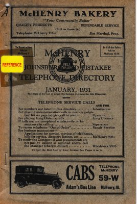 1931 January - McHenry Telephone Directory