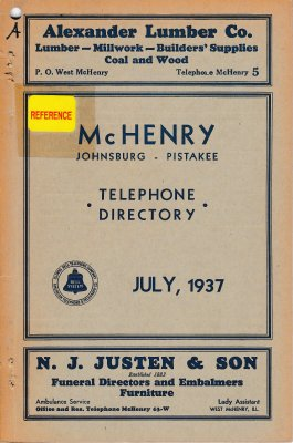 1937 July - McHenry Telephone Directory