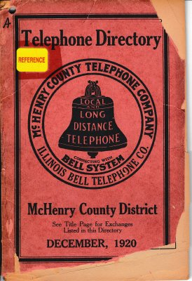 1920 December - Telephone Directory