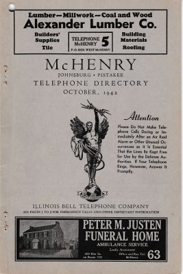 1942 Oct - McHenry Telephone Directory