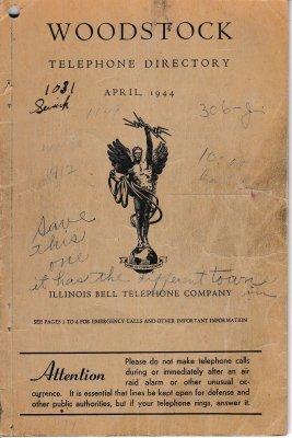 1944 Apr - Woodstock Telephone Directory
