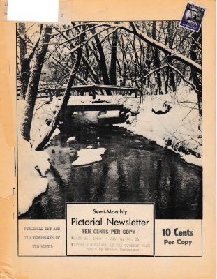 The Pictorial Newsletter: March 16, 1960