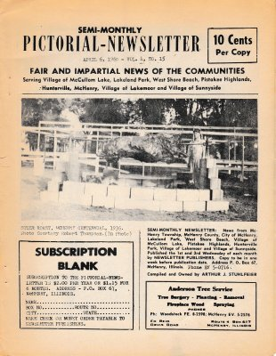 The Pictorial Newsletter: April 6, 1960