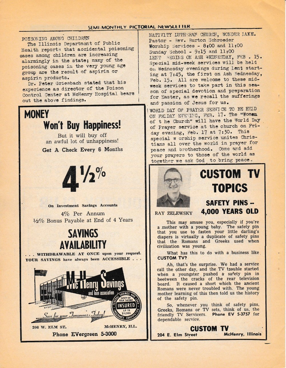 The Pictorial Newsletter: February 15, 1961